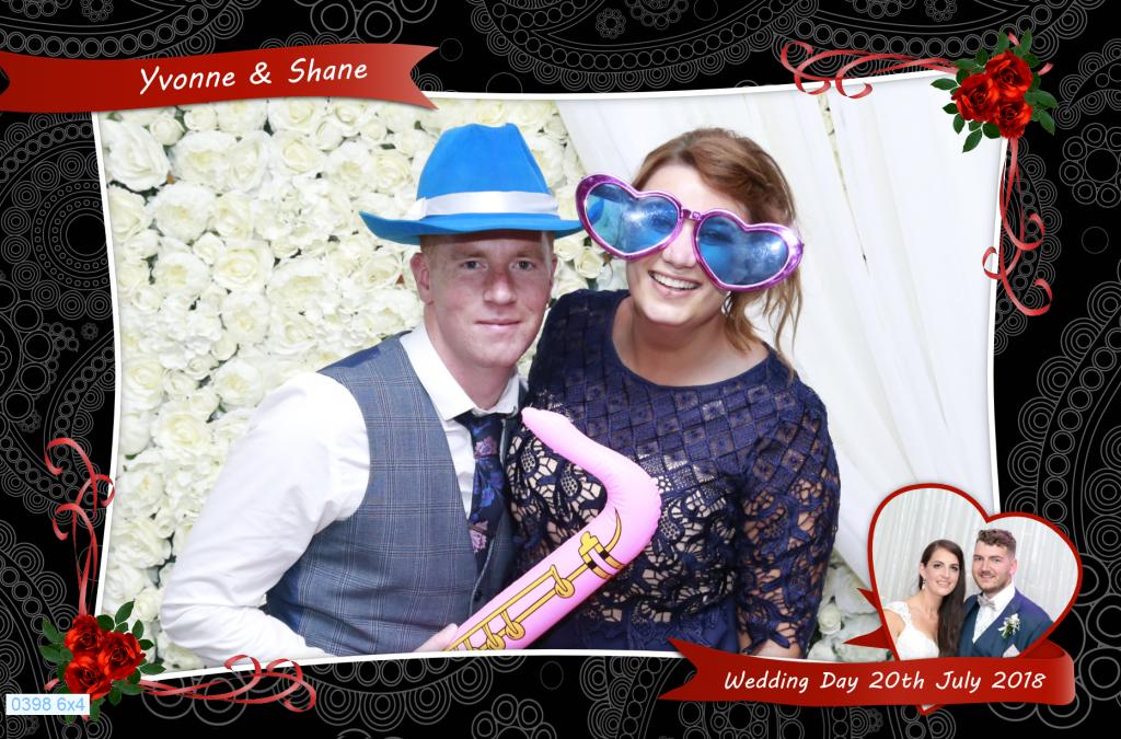 Studio-Style Photobooth at Yvonne & Shane's wedding in Killarney